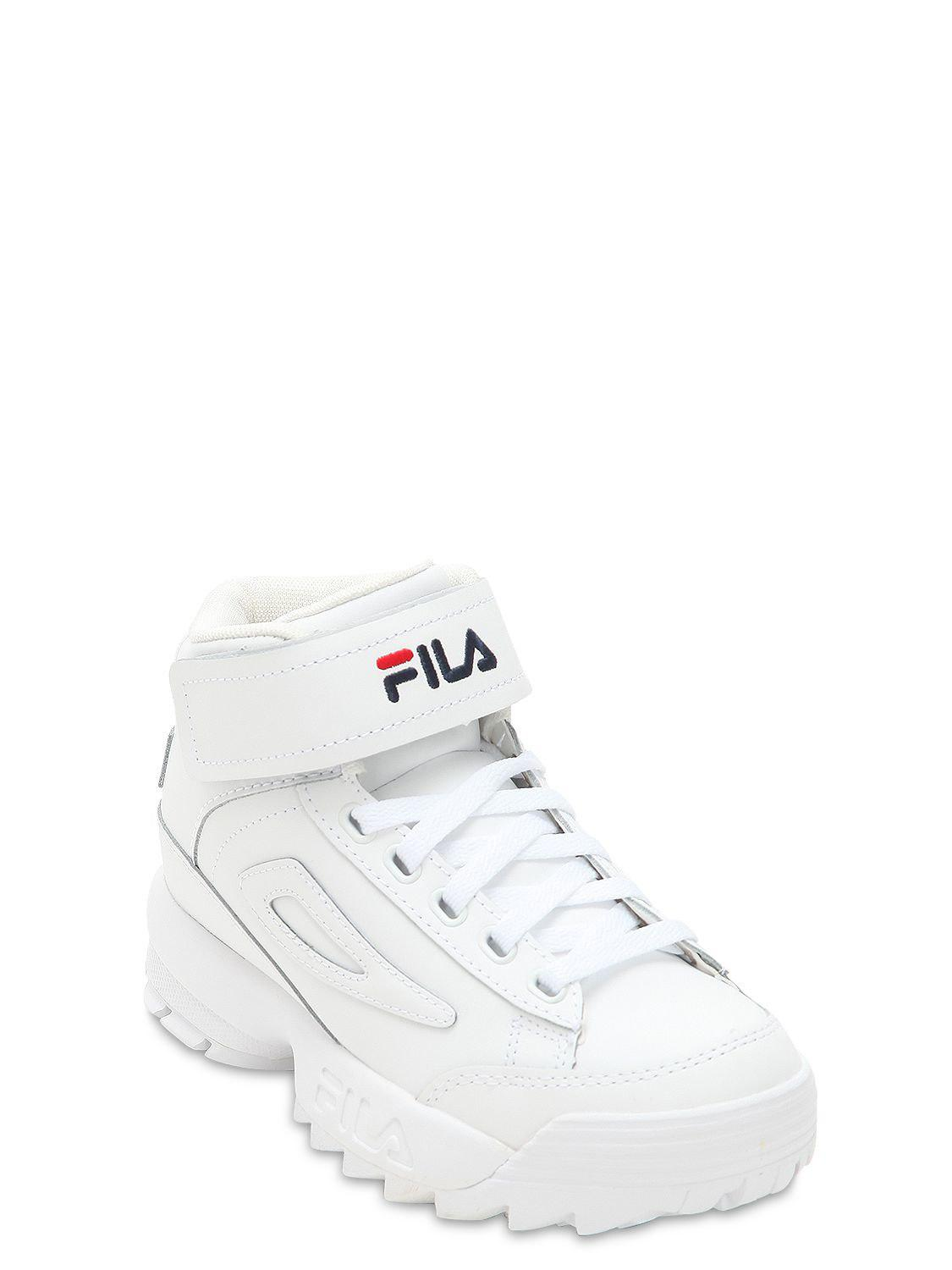 ac0471897a77 Lyst - Fila Disruptor Leather Platform Sneakers in White - Save 11%