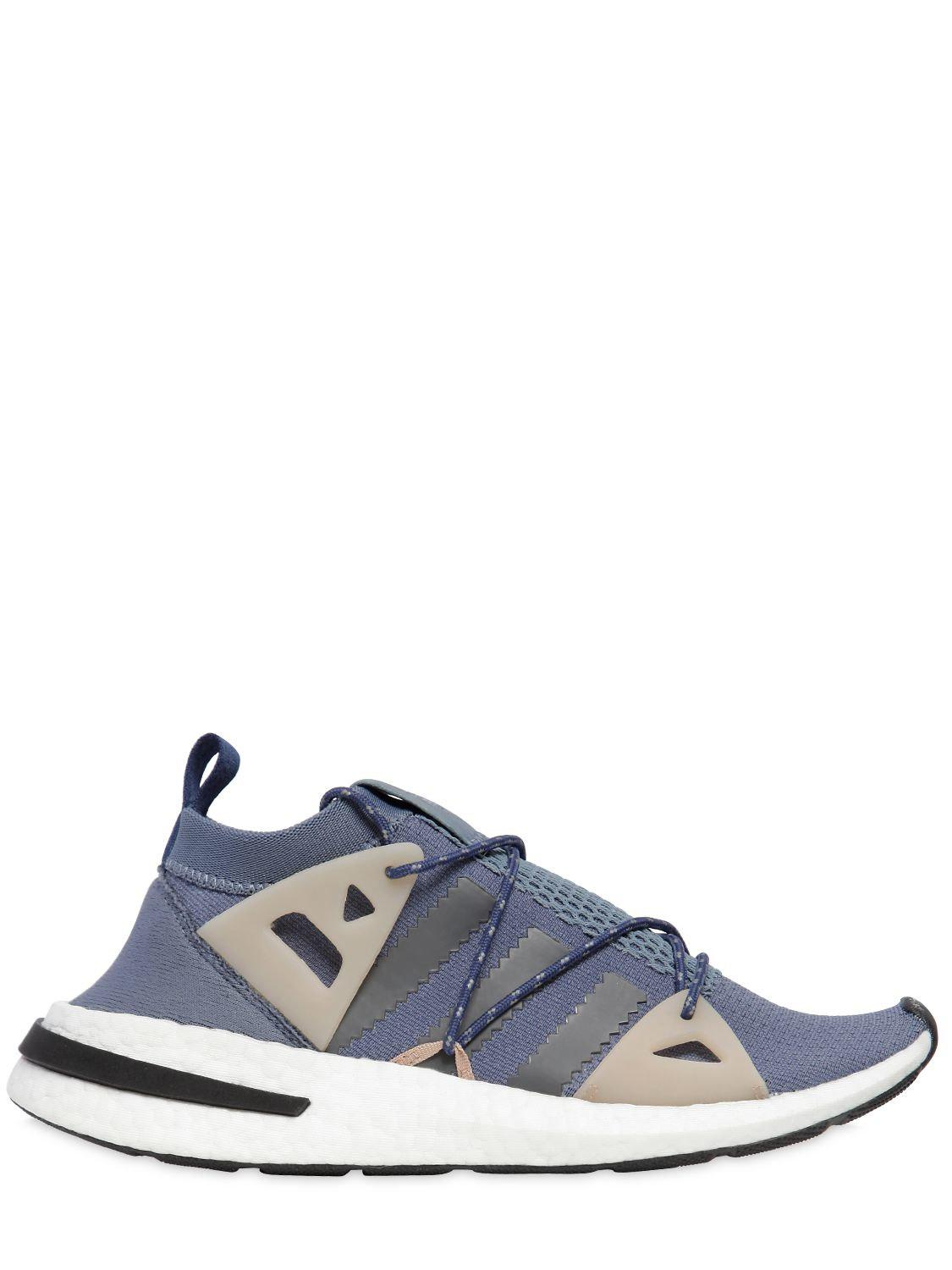 Arkyn Suede-trimmed Mesh Sneakers - Blue adidas Originals