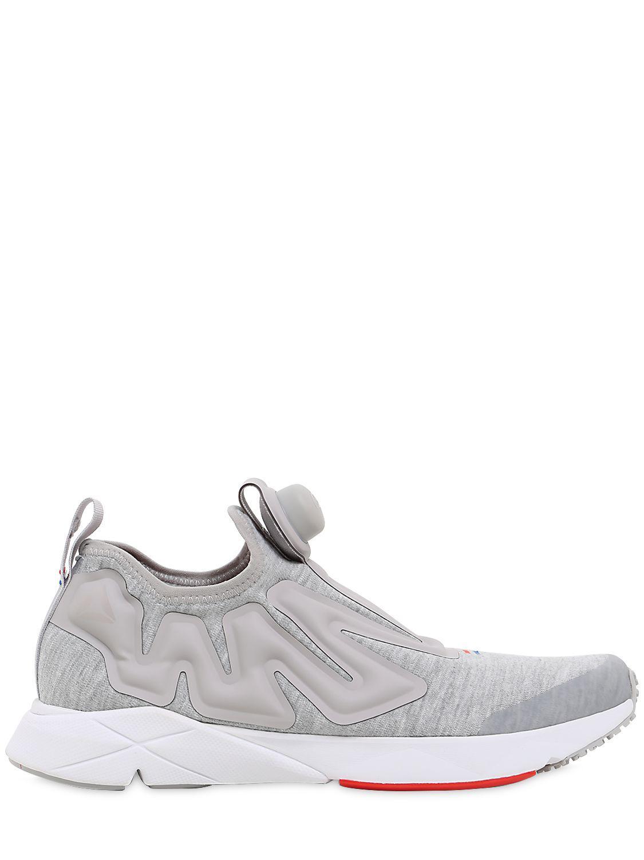 1321b7f00e9 Reebok Pump Supreme Hoodie Sneakers in Gray for Men - Lyst