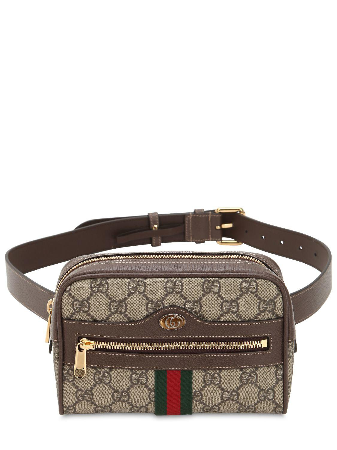 c1712db6767 Gucci Ophidia Gg Supreme Belt Bag in Brown - Save 11% - Lyst