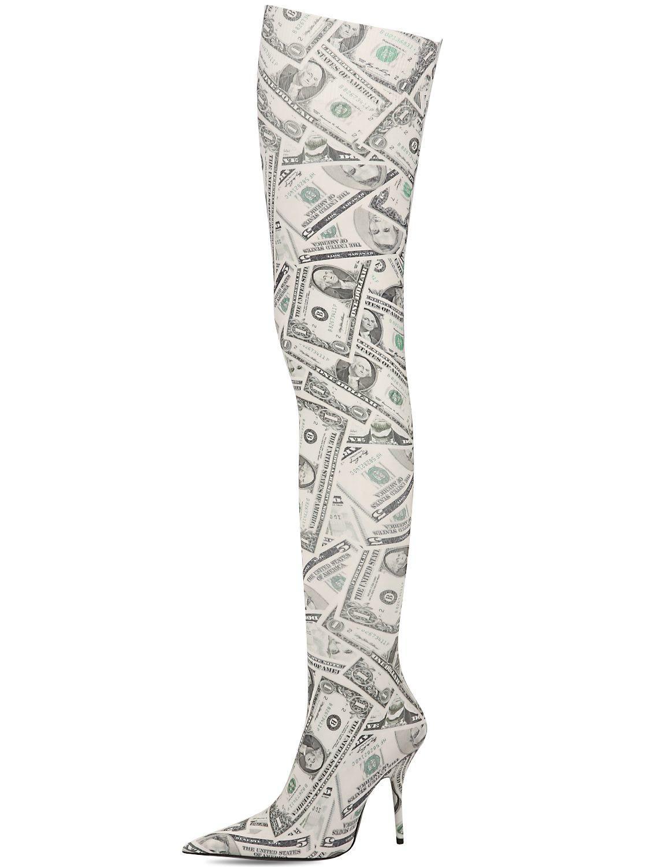 Balenciaga 80MM KNIFE DOLLARS THIGH HIGH BOOTS