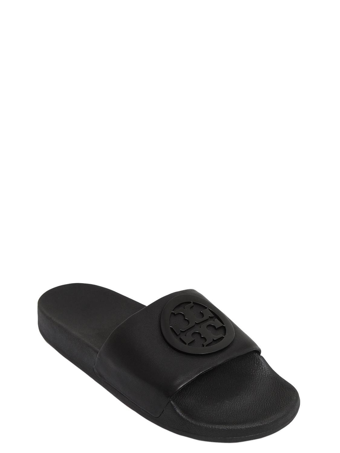 b21d764a3 Tory Burch Lina Slides in Black - Save 50% - Lyst
