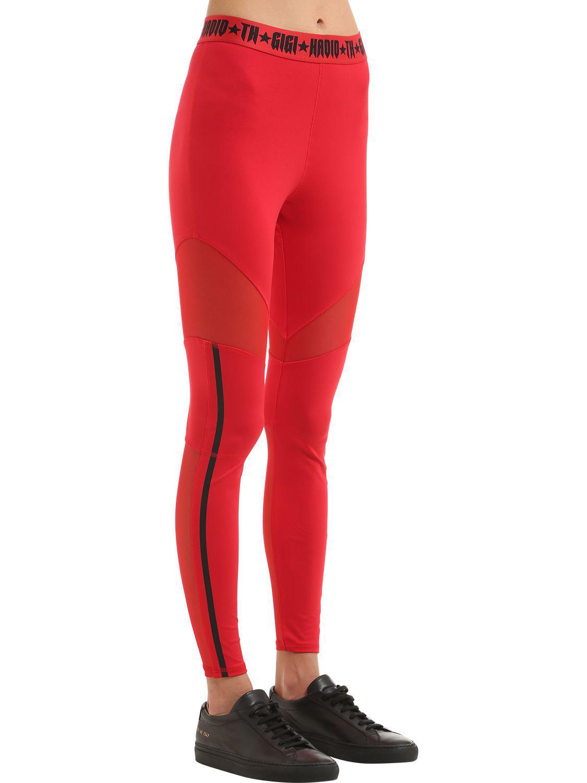 b492a89d Tommy Hilfiger Sport Leggings Gigi Hadid in Red - Lyst