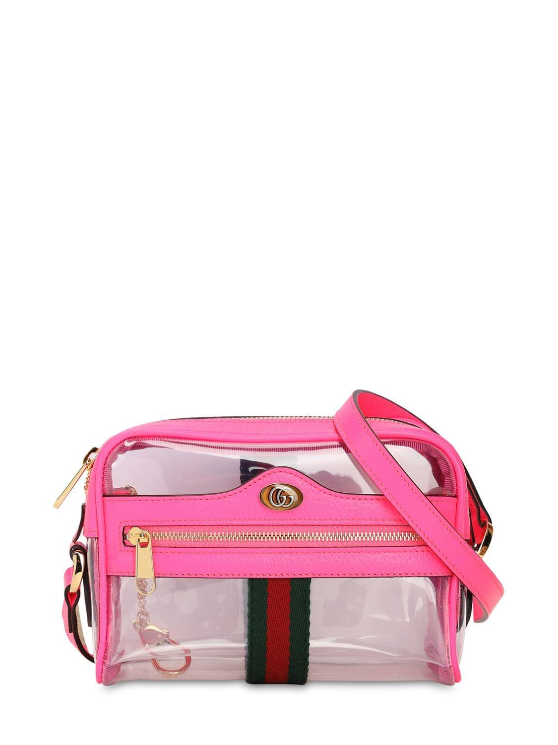 8865fa739 Lyst - Gucci Mini Ophidia Ghost Vinyl Shoulder Bag in Pink