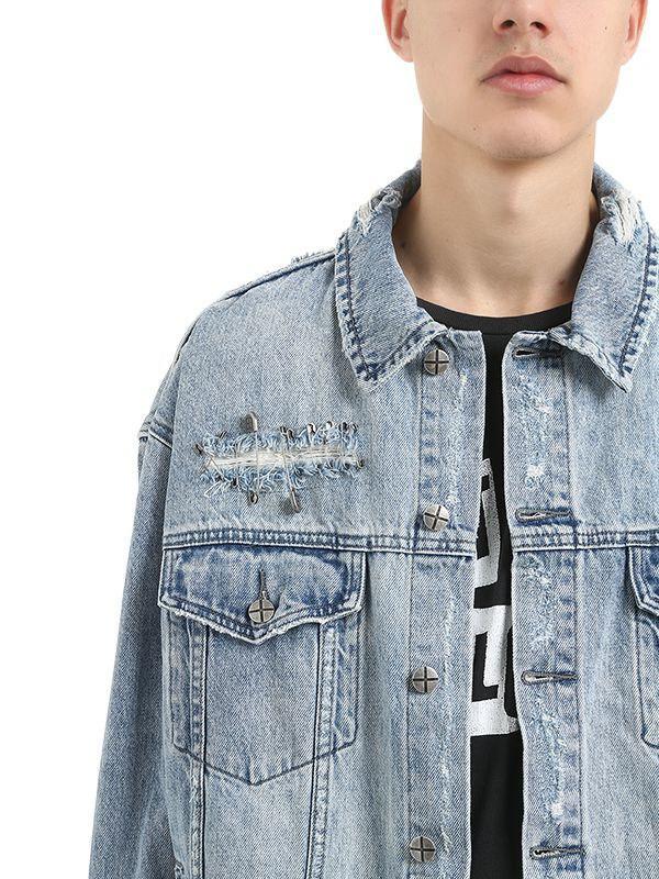 191ffc6b8b Ksubi - Blue Oh G Punk Pin Cotton Denim Jacket for Men - Lyst. View  fullscreen
