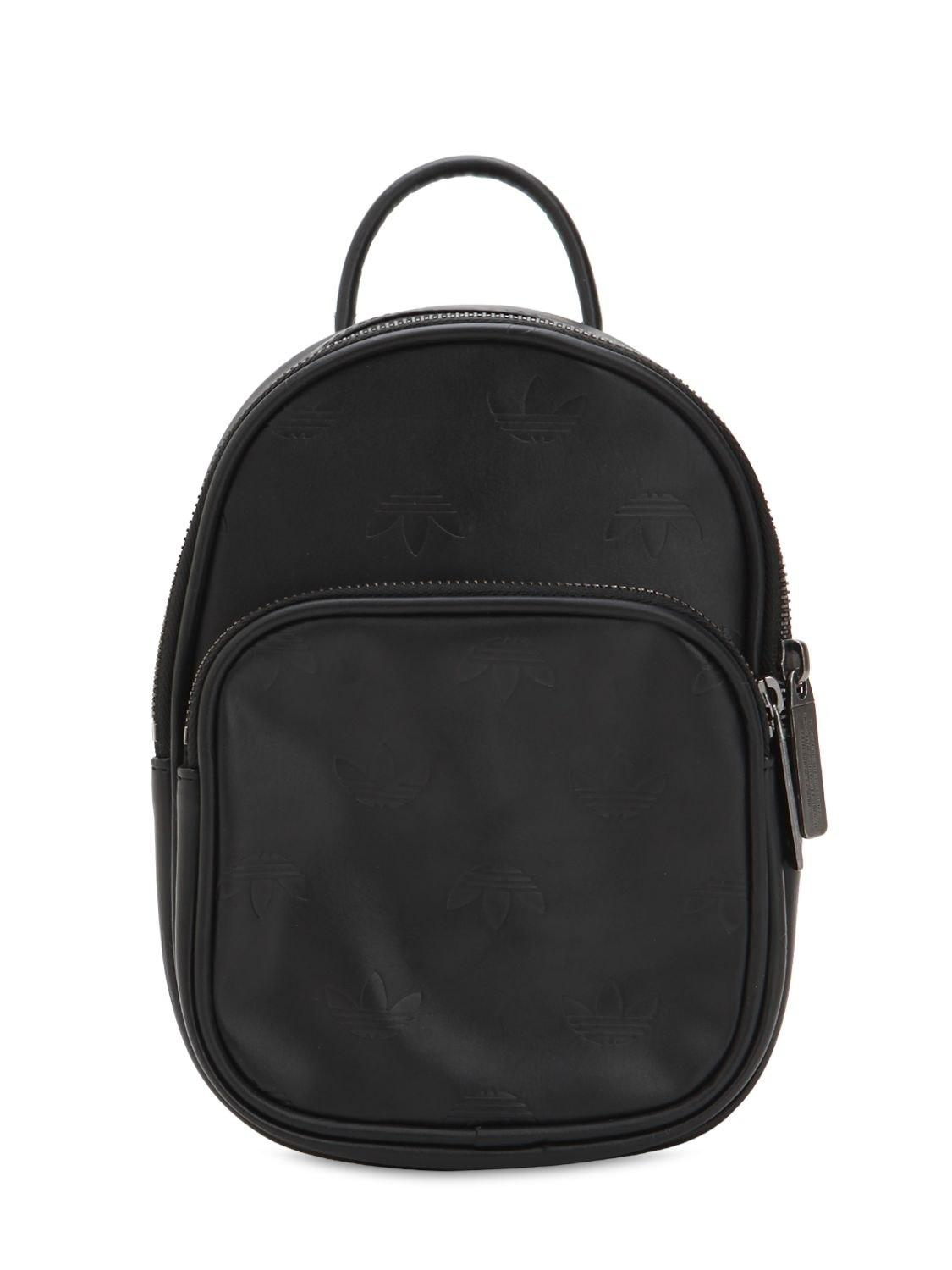 29c5e2095e22 Lyst - adidas Originals Mini Classic X Faux Leather Backpack in Black