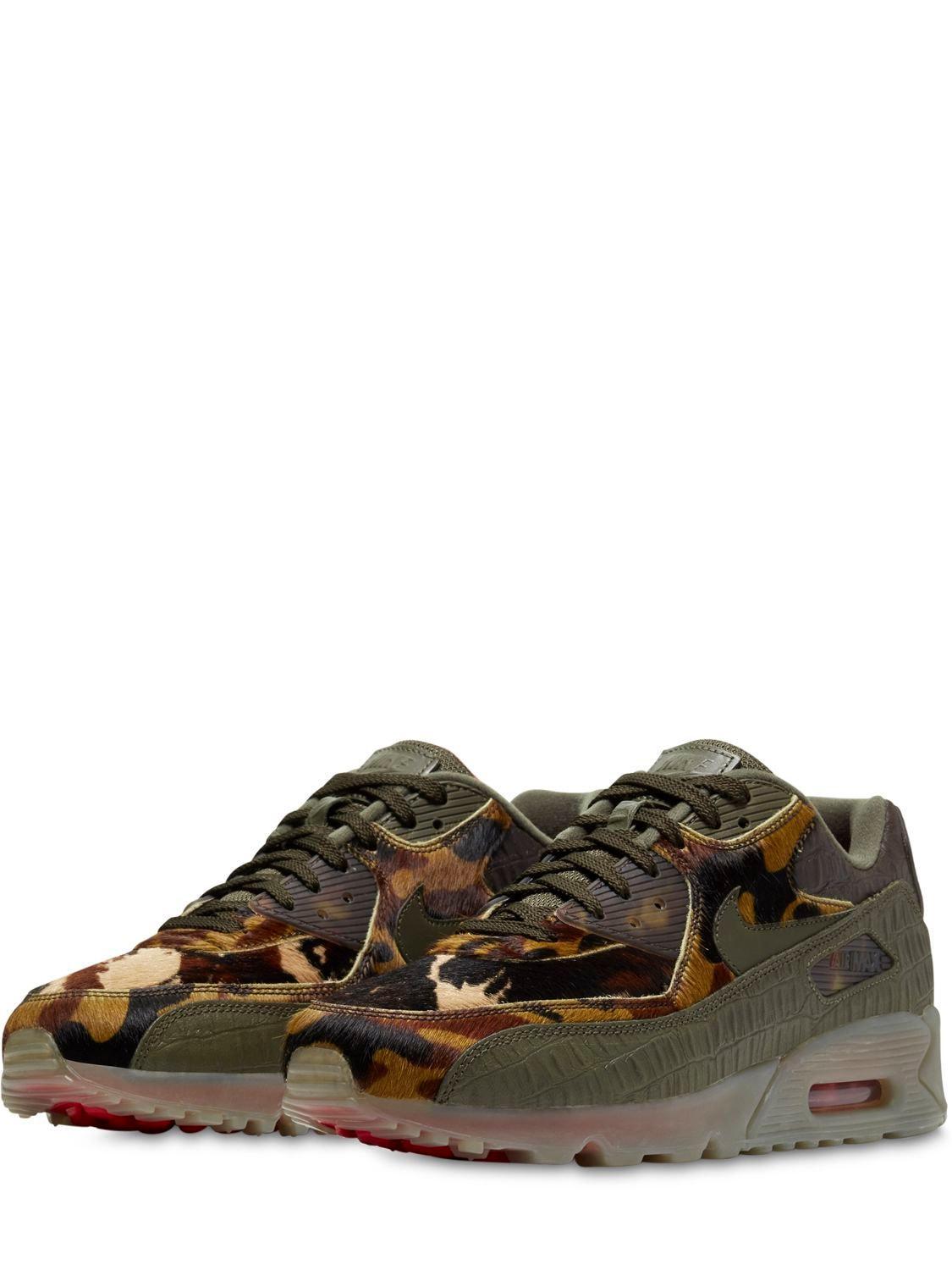 Nike Leather Air Max 90 Safari Sneakers for Men - Lyst