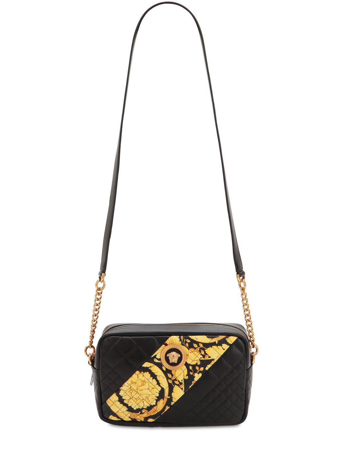 765f5b82 Versace Quilted Leather Shoulder Bag in Black - Lyst