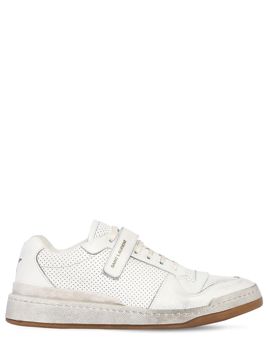19c75f2d5baa93 ... White Travis Perforated Leather Sneakers for Men - Lyst. View fullscreen