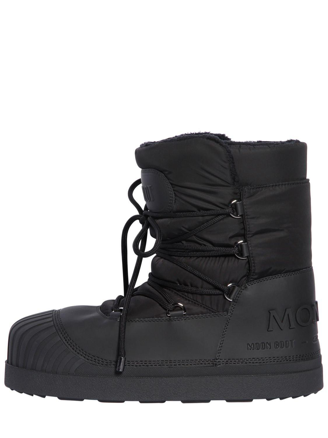 98f0458d0947 Lyst - Moncler Grenoble Moon Boot Ankle Snow Boots in Black for Men