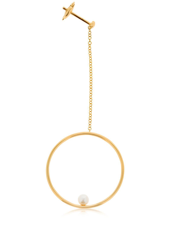 Anissa Kermiche Rondeur Perlee Doublée Chain earring JZHKYyEAE