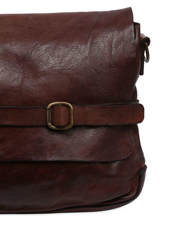 fe3448674f43 Campomaggi - Brown Vintage Effect Leather Messenger Bag for Men - Lyst.  View fullscreen