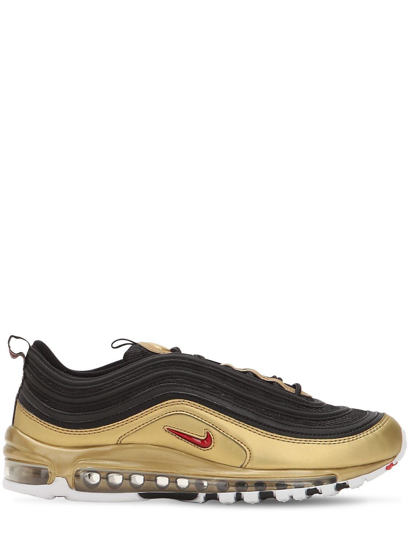 Nike Air Max 97 Qs Sneakers in Black/Gold (Black) for Men - Lyst