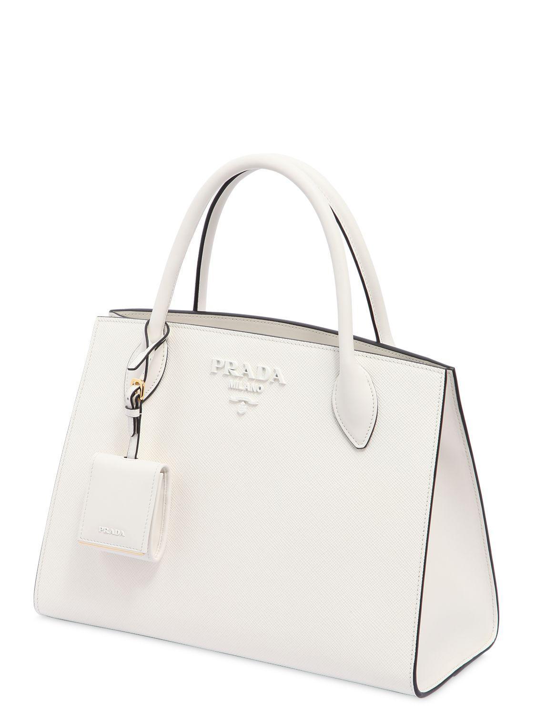 ef5d34194ebd Prada Monochrome Saffiano Leather Bag