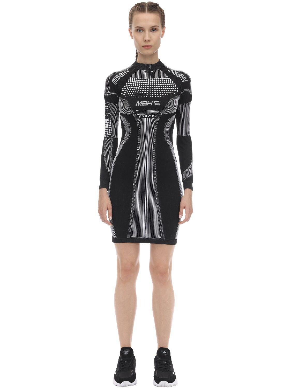 Vestido Deportivo De Jersey Techno MISBHV de color Negro