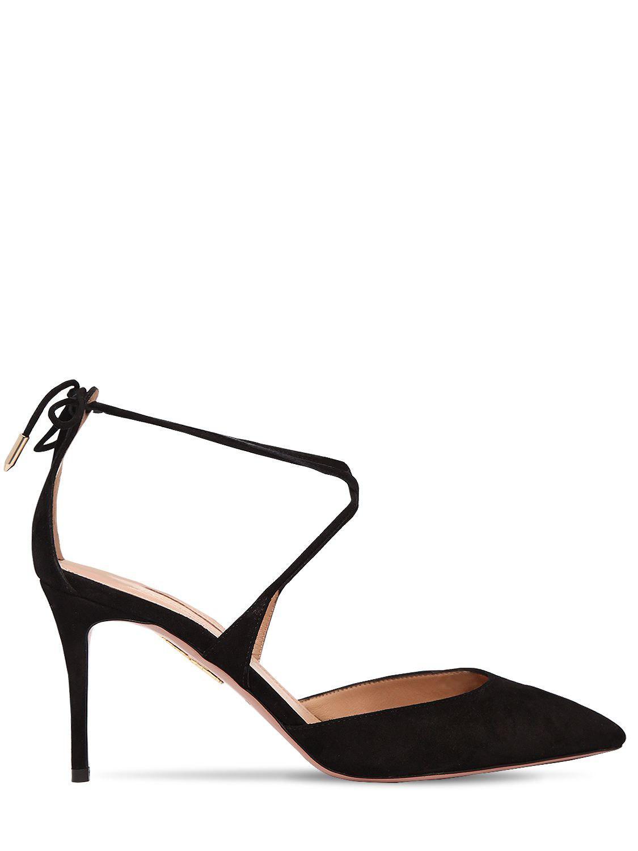 f93673be240 Aquazzura. Women s Black 85mm Very Matilde Suede Court Shoes
