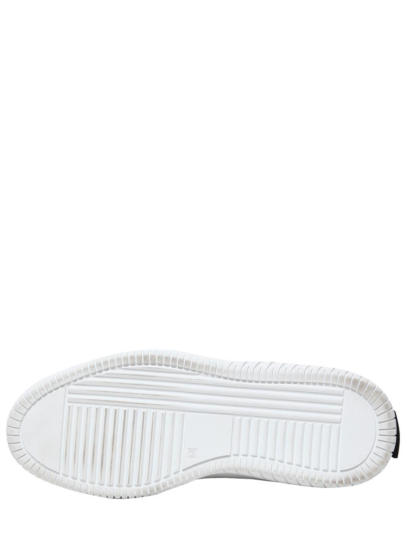 MSGM 40mm Stars Neoprene & Suede Sneakers in Black/White (Black)