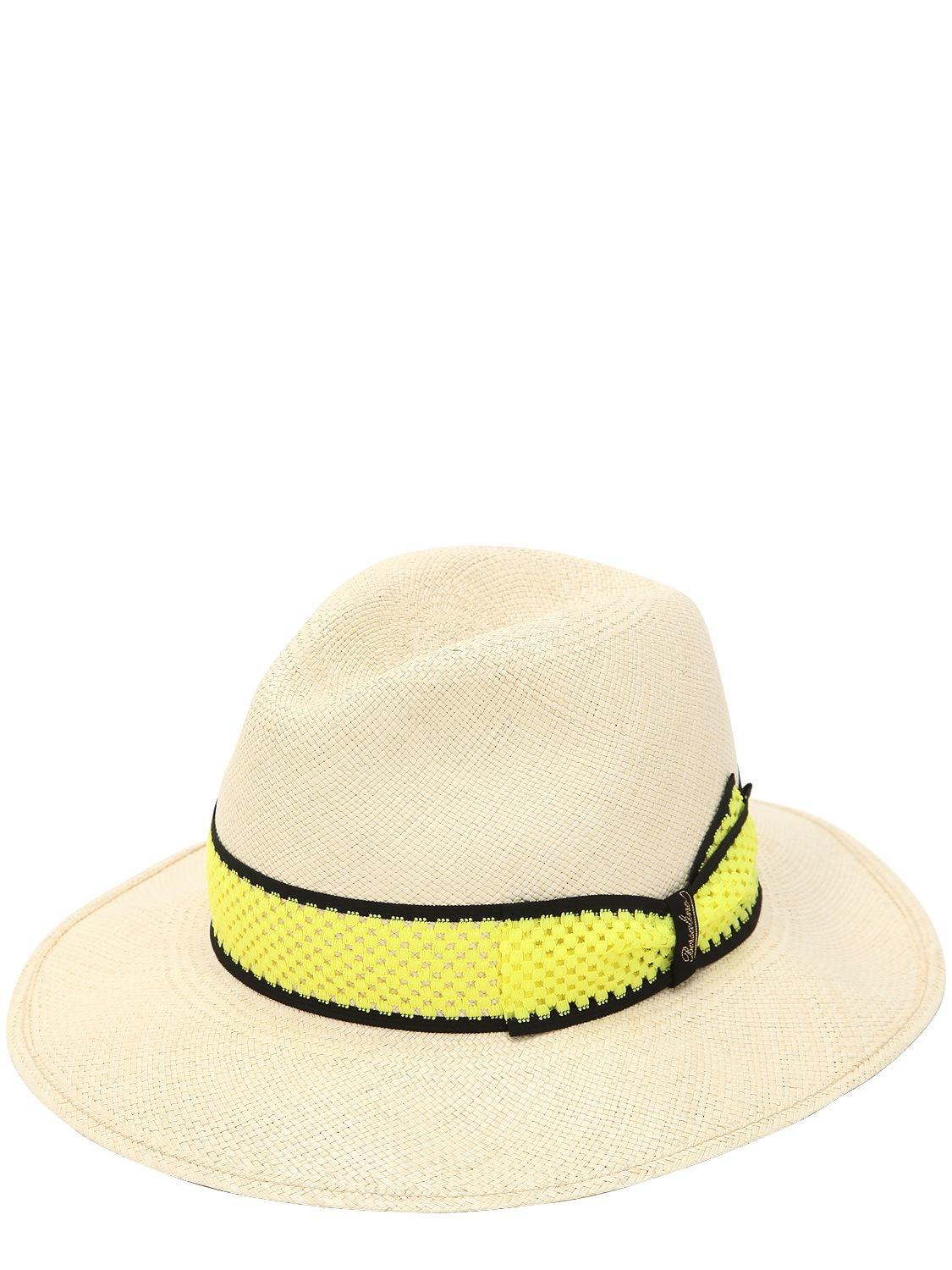 Borsalino Quito Large Panama Hat in Yellow for Men - Lyst e8877dd85052