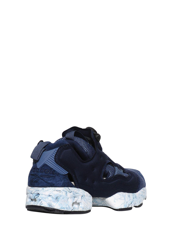 Reebok Synthetic Instapump Fury Nylon Sneakers in Navy (Blue)