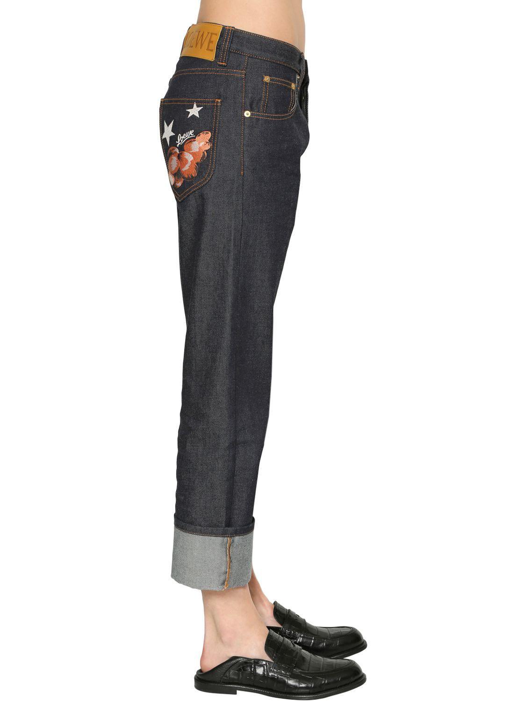 Loewe Logo Denim Jeans in Blue