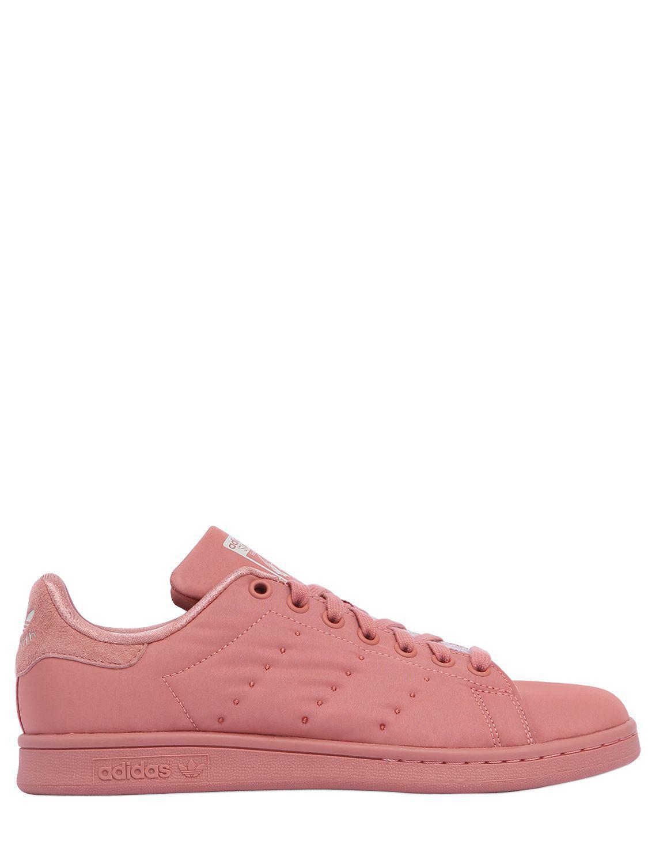 lyst adidas originali stan smith con raso scarpe rosa