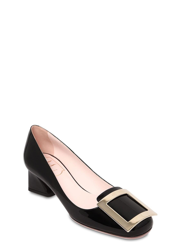 """Zapatos Pumps """"Trés Vivier"""" De Charol 45Mm Roger Vivier de Cuero de color Negro"""