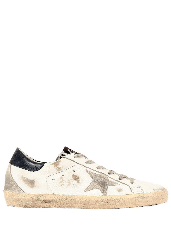 cfcb0f4c932b Golden Goose Deluxe Brand. Women s White 20mm Super Star Ponyskin Tongue  Sneakers