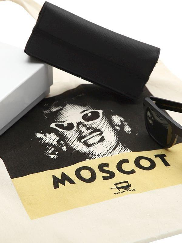 Moscot Leather Common Projects Collaboration Sunglasses in Black