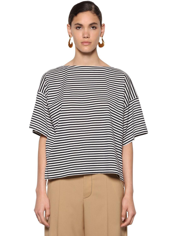 Camiseta De Algodón Jersey A Rayas Marni de Algodón
