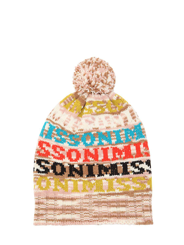 d843cb511e8 Lyst - Missoni Logo Wool Blend Knit Beanie Hat