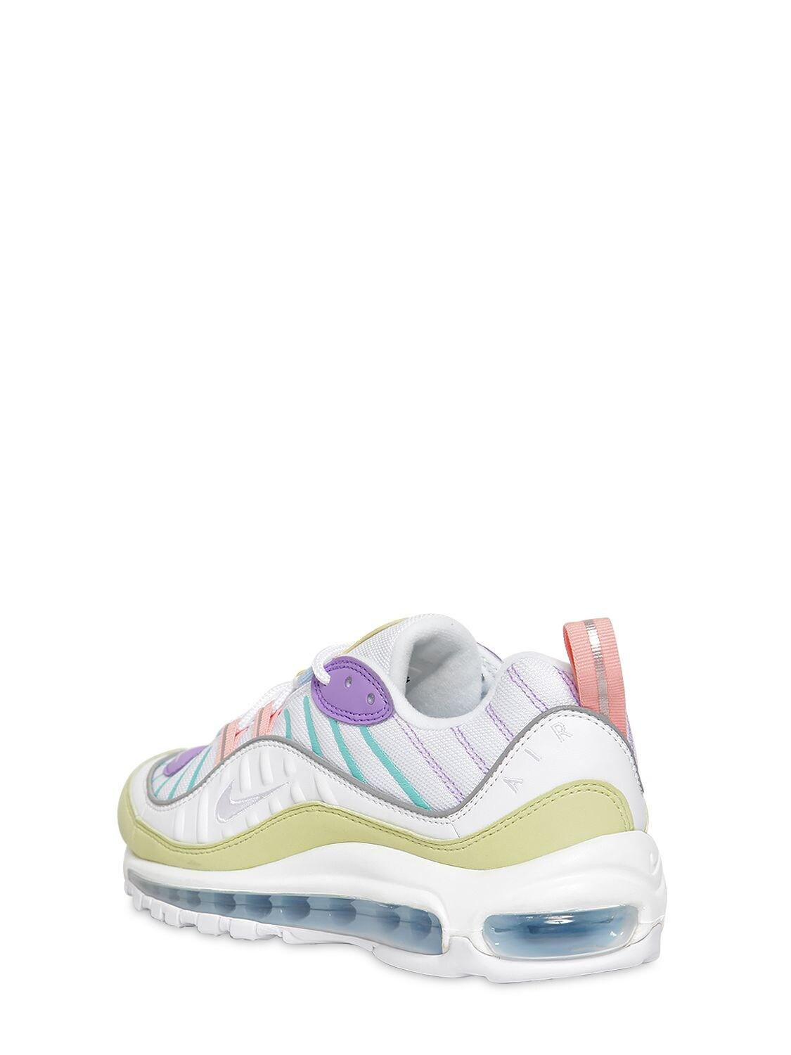 Nike Synthetic Pastel Air Max 98 Trainers in Green (White) - Lyst