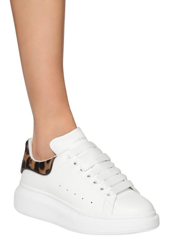 Sneakers En Cuir 45 Mm Cuir Alexander McQueen en coloris Blanc KN50