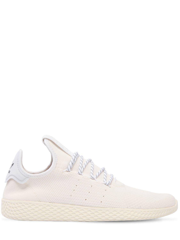 Adidas Originals Hu Holi Blank primeknit zapatillas en blanco para los hombres