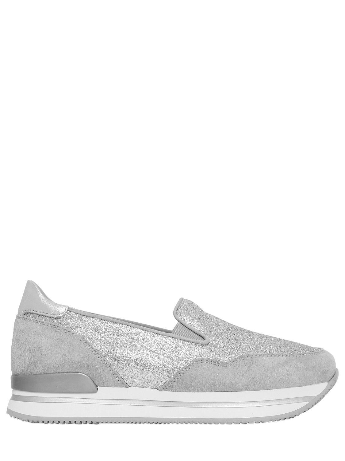 H222 suede and mesh glitter sneakers Hogan xTH9NlaQX