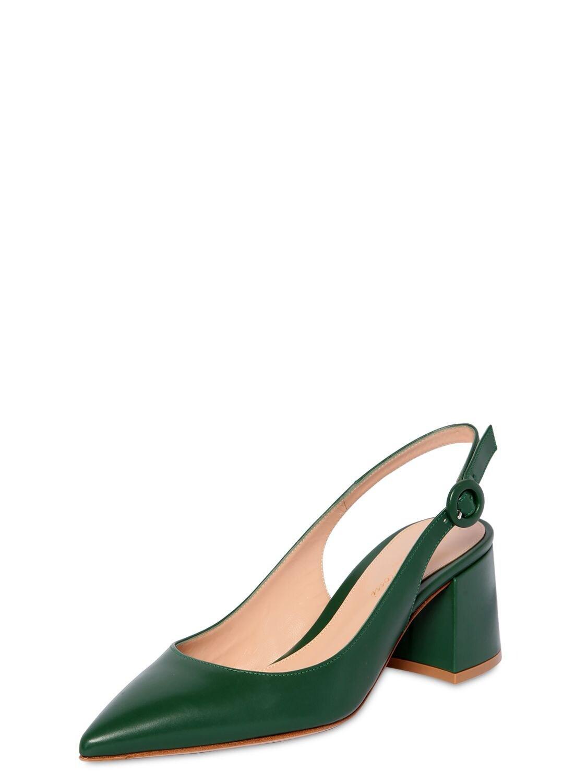 Zapatos Destalonados De Piel 60Mm Gianvito Rossi de Cuero de color Verde