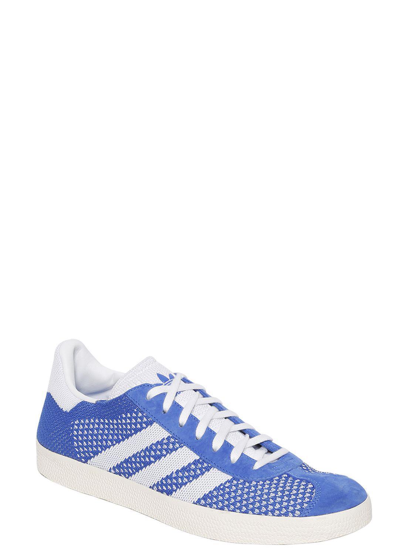 new concept 670b0 d417c Lyst - adidas Originals Gazelle Primeknit Sneakers in Blue f