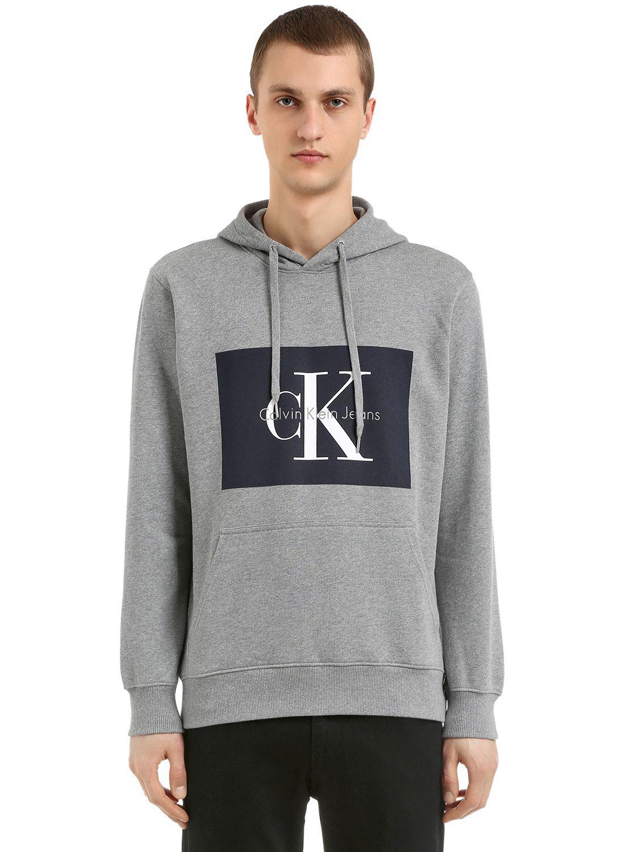 Core Jeans Klein Sweatshirt Grey Heather Institutional Logo Calvin 84Uqn