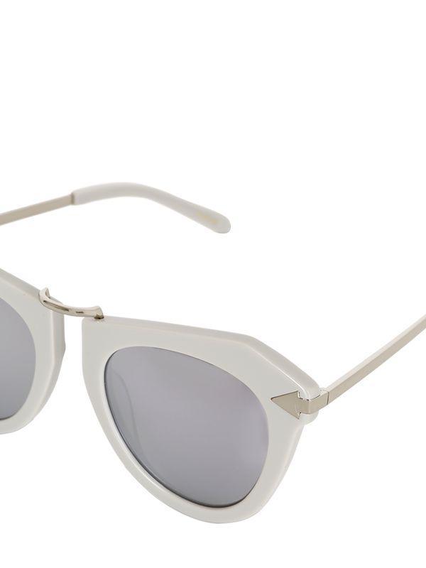 d737aa929f Lyst - Karen Walker One Orbit Geometric Mirror Sunglasses in Gray