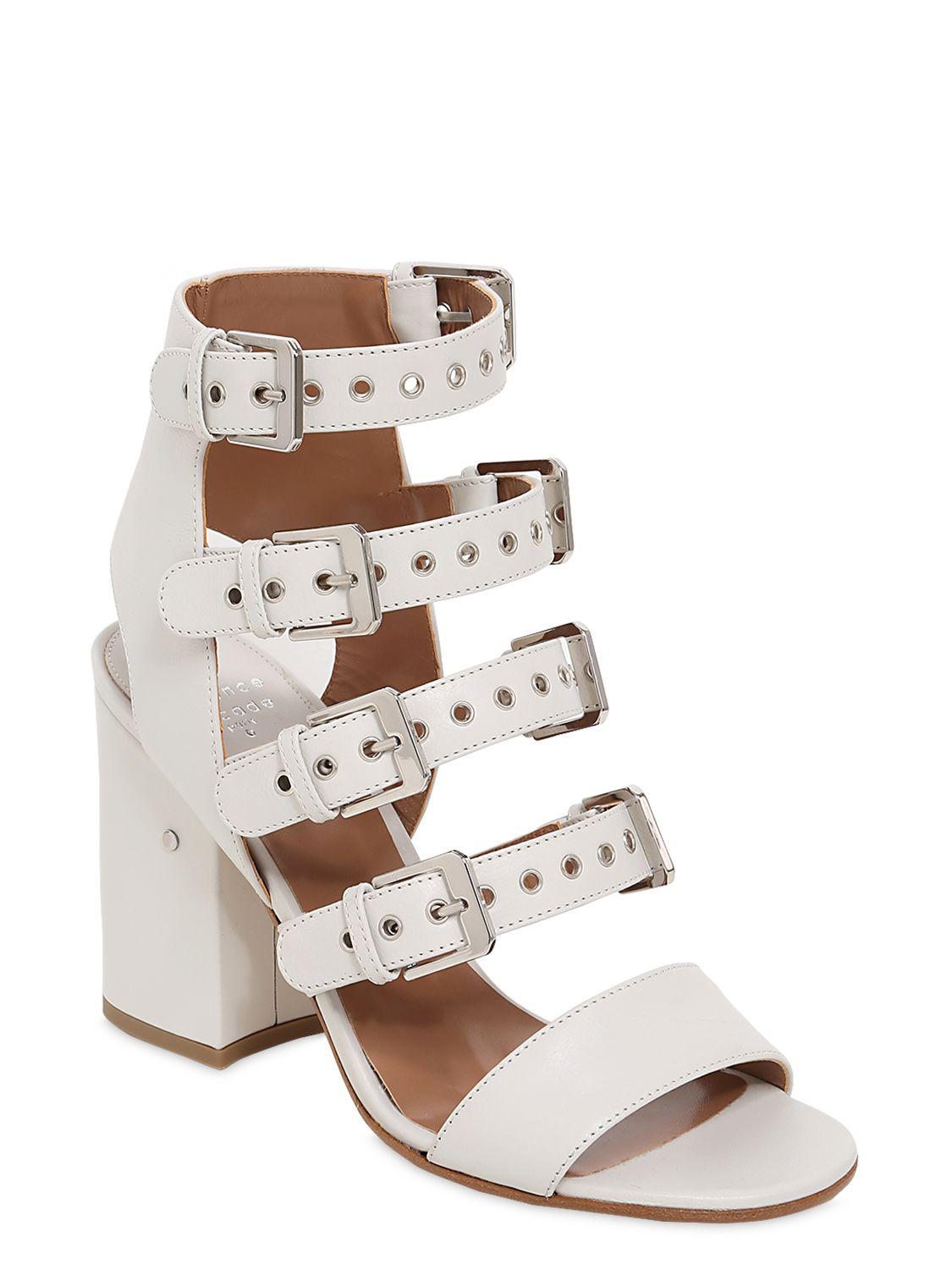LAURENCE DACADE 90MM KLOE BUCKLES LEATHER SANDALS Cheapest Price Sale Online New Arrival Good Selling Sale Online 7txSX