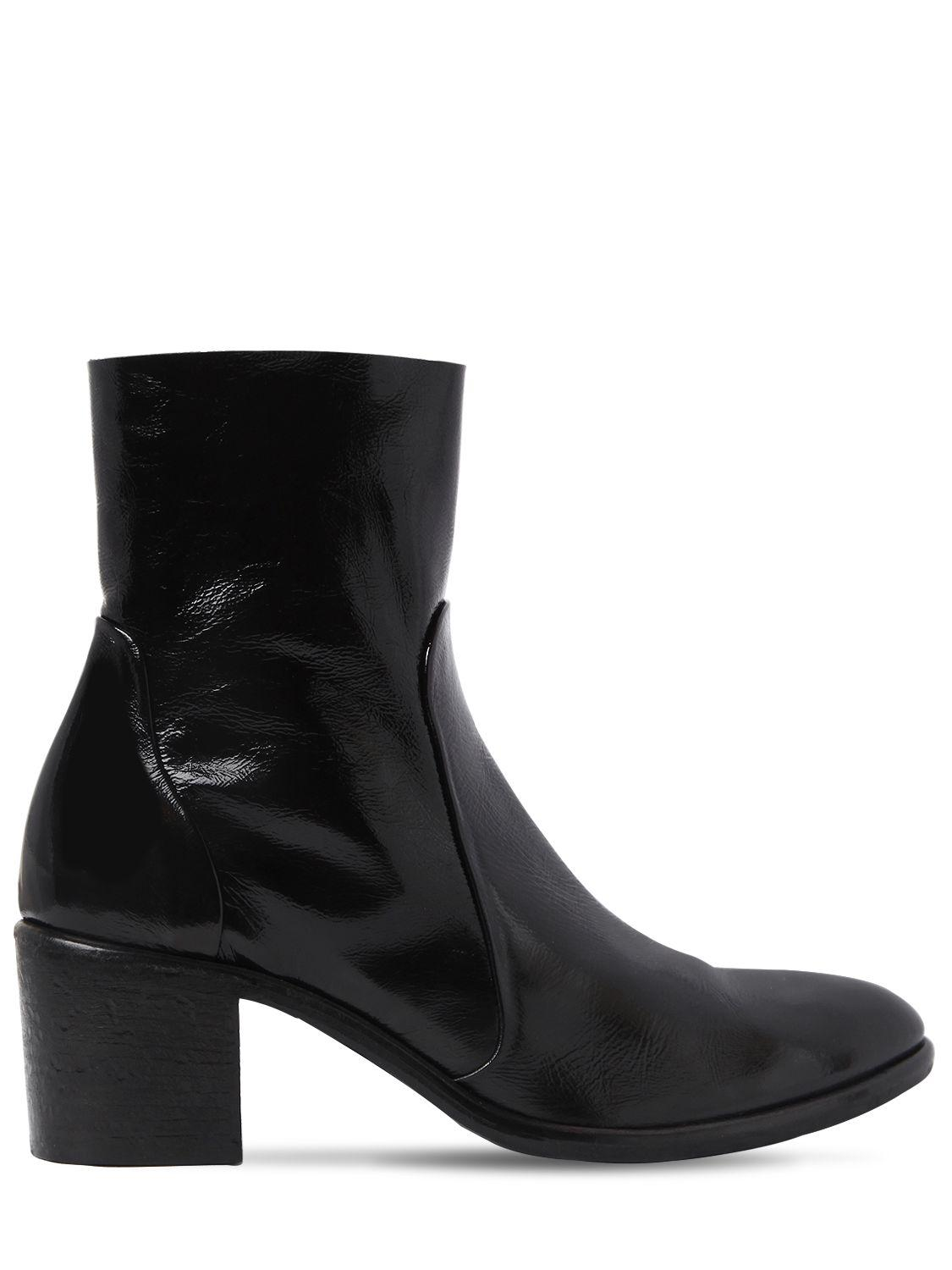 Strategia 50MM NAPLACK PATENT LEATHER ANKLE BOOTS rHdFW2B