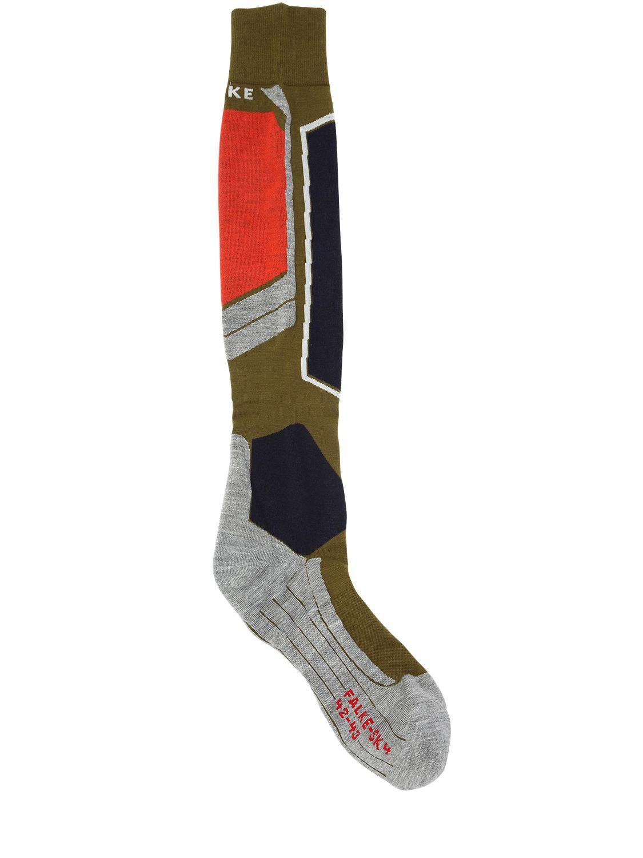 e2ad0a255db Falke Sk4 Wool Blend Ski Socks In Green For Men Lyst