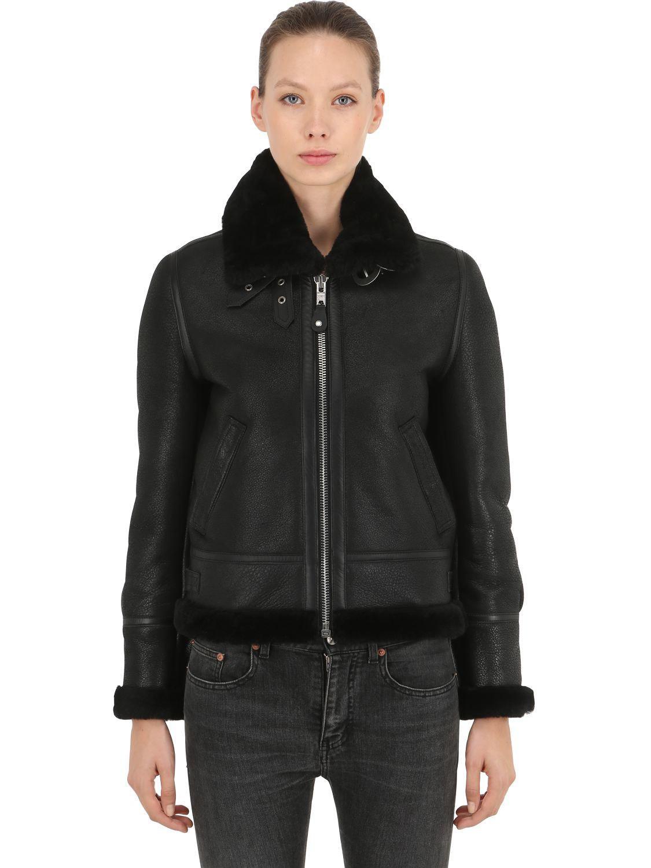 Schott Black Women's Leather Nyc 1257 Lcw Jacket Aviator f8xpUwfqZ