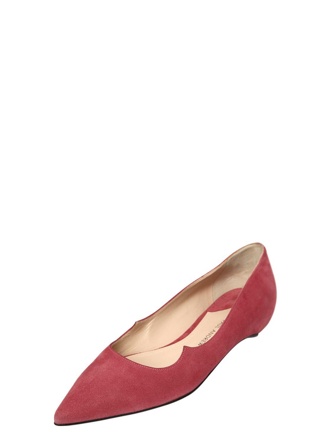 Womens Zoya Suede Flats PAUL ANDREW v3Cex