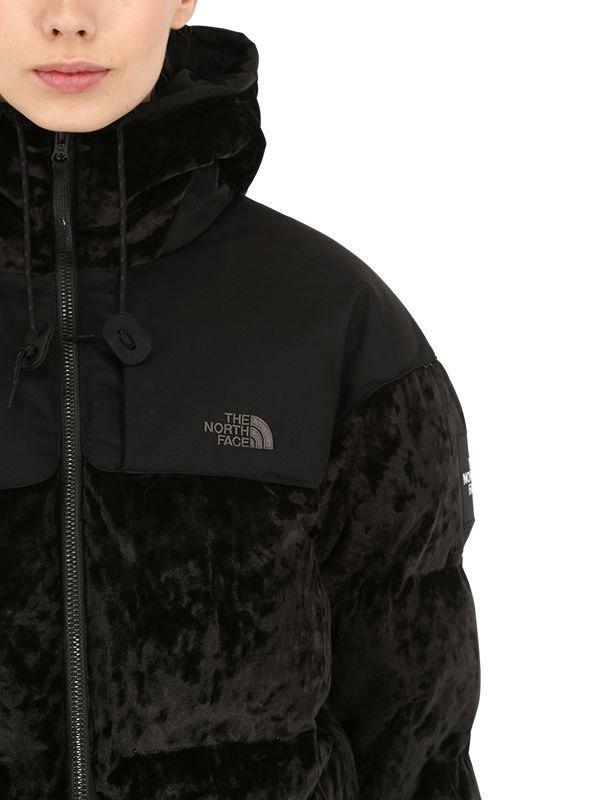 619505142 The North Face Black Urban Velvet Nuptse Jacket