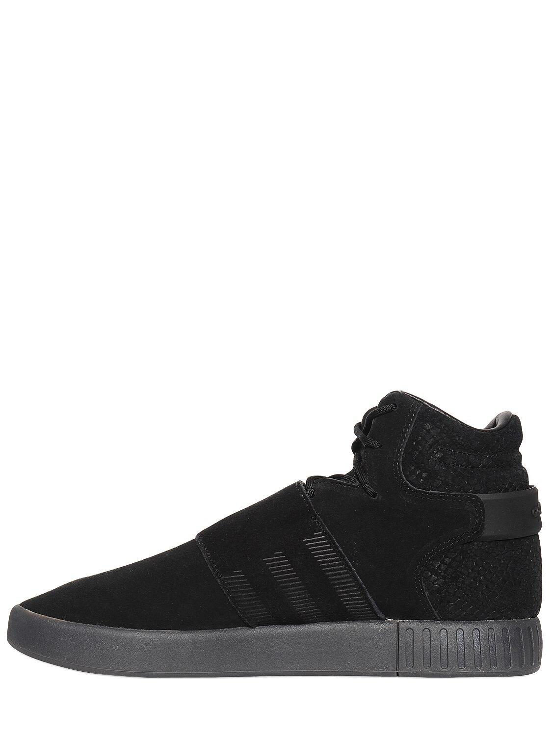 Tubular Invader Suede High Top Sneakers