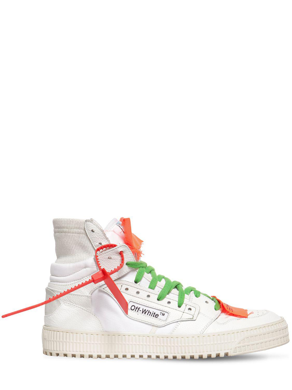751586dd6d0c Off-White c o Virgil Abloh. Women s White Low 3.0 Leather High Top Sneakers