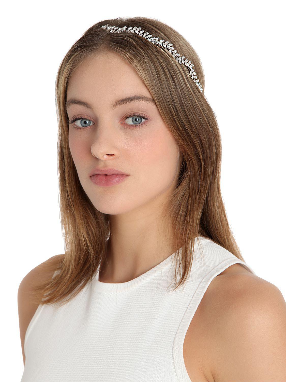 Jennifer Behr - Multicolor Vine Swarovski Crystal Headband - Lyst. View  fullscreen 9437c071955