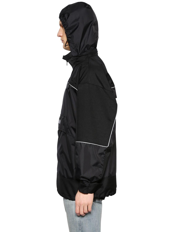 Balenciaga Synthetic Oversized Windbreaker Jacket in Black for Men