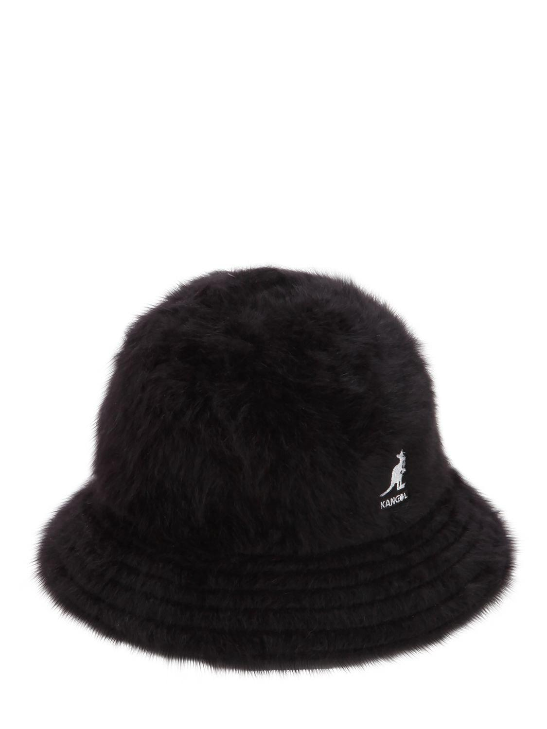 a0f699500 Kangol Furgora Casual Angora Blend Bucket Hat in Black - Lyst