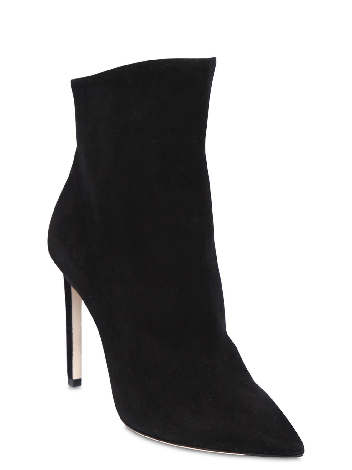 Jimmy Choo 100mm Helaine Suede Ankle Boots in Black